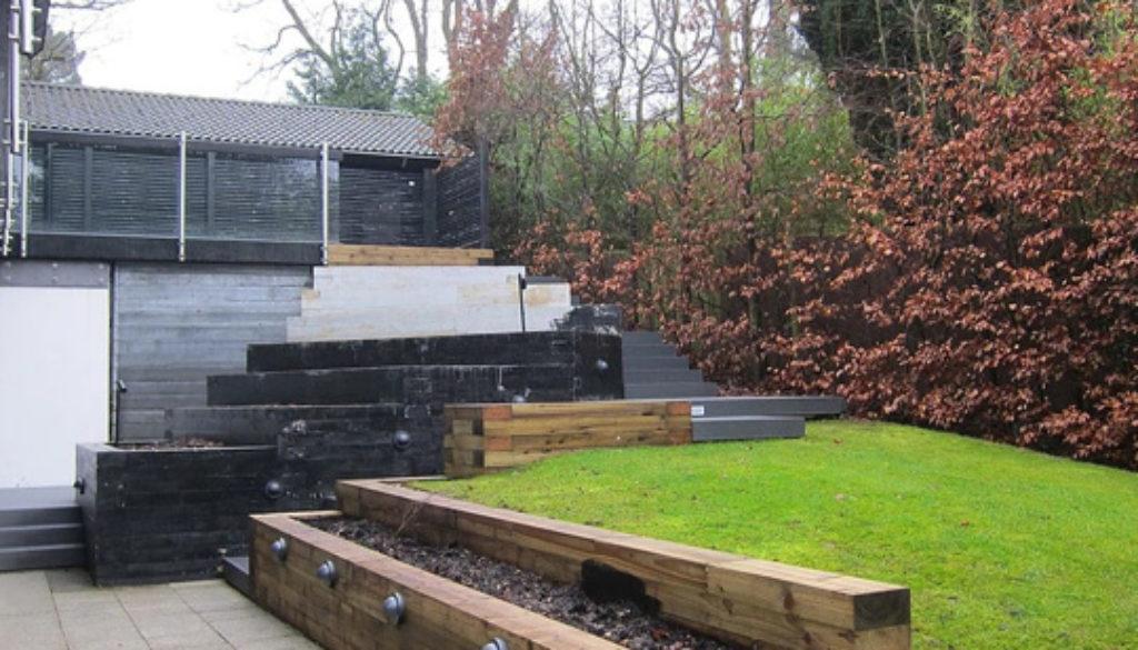 Jardines en terrenos con mucha pendiente Diseño de jardin y paisajismo en Alcobandas Moraleja Antes - Despues 0