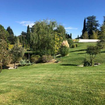 Mantenimiento de jardines Jardineria y paisajismo en Madrid . Chalet en La Moraleja de Madrid Amplia pradera 2