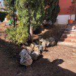 Proyecto de jardineria y paisajismo para chalet Madrid. Encinar de los Reyes Antes entrada