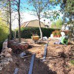 Proyecto de jardineria y paisajismo para chalet Madrid. Encinar de los Reyes Antes Hacia entrada Proceso 1