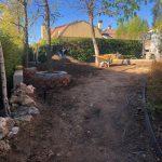 Proyecto de jardineria y paisajismo para chalet Madrid. Encinar de los Reyes Antes Hacia entrada 3