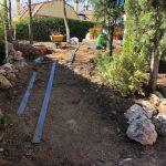 Proyecto de jardineria y paisajismo para chalet Madrid. Encinar de los Reyes Antes Bajada a entrada
