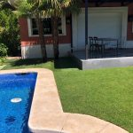 Proyecto de jardineria y paisajismo para chalet Madrid. Encinar de los Reyes Zona Piscina